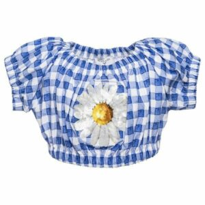 Vichy and daisy top 113300
