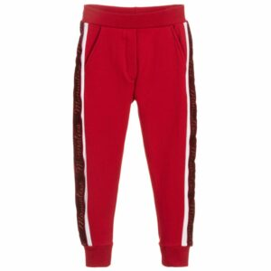 Girls Red Joggers