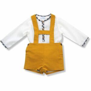 Shorts and shirt set mustard
