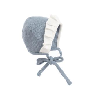 Blue Wool Bonnet by Foque