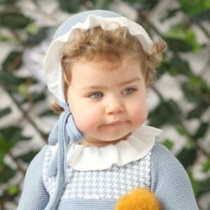 1921038d Blue Wool Bonnet Foque