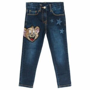 Jeans with stars & sequins