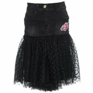 Denim skirt with tulle