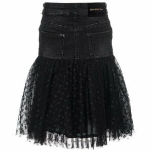 194701d Denim skirt with tulle monnalisa