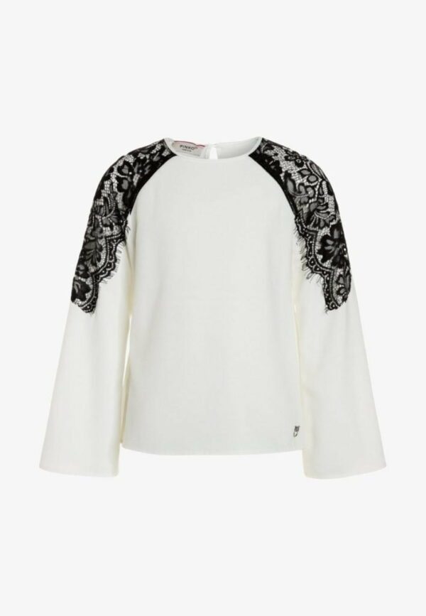 Sweater with shoulder lace