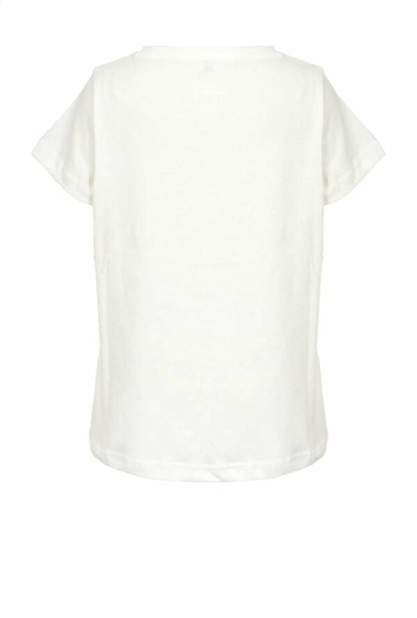 Printed and embroidered T-shirt 1A11CQ