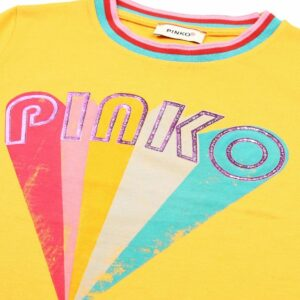 T-shirt with multicolour PINKO logo