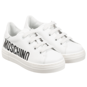 Leather Logo Trainers Moschino