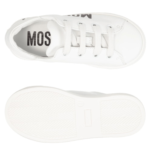 Moschino Kids Leather Logo Trainers
