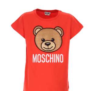 Red Maxi T-shirt Moschino