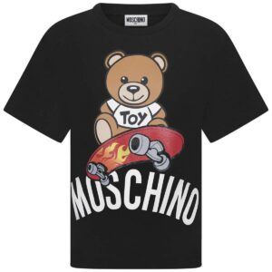 Moschino Kids Skateboarder Teddy Bear t-shirt
