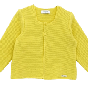 Wide & long knitted baby cardigan