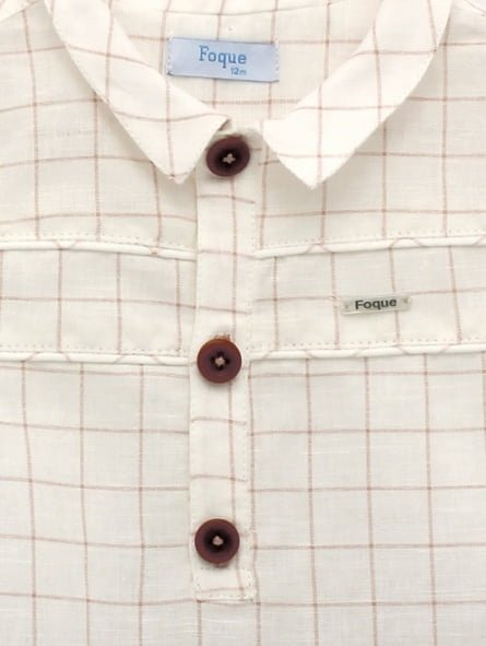 Square shirt & shorts set