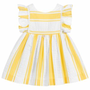 "Yellow stripe ""sympathy"" dress"