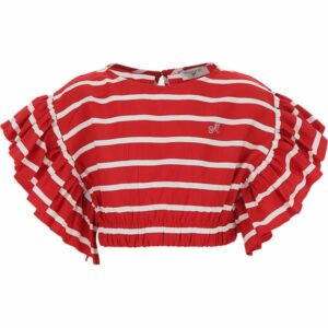 Viscose striped top Monnalisa