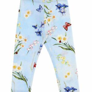 Girls Blue Leggings Monnalisa