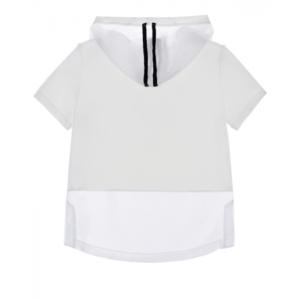 Rhinestones jersey hoodie Monnalisa