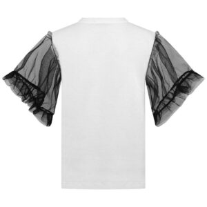 Girls Top Tulle Sleeves