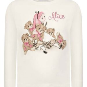 Monnalisa kids Alice Long Sleeve T Shirt