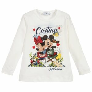 Monnalisa kids Minnie and Mickey T Shirt