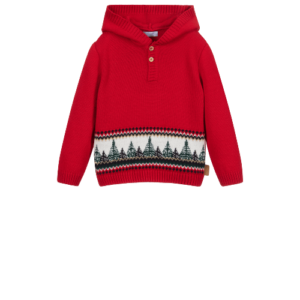 Foque Red Hooded Sweater