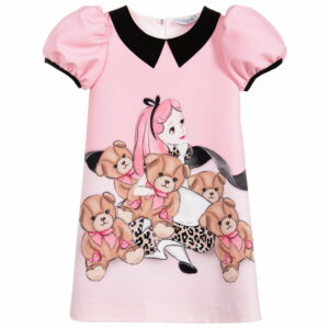 Monnalisa Kids Pink Disney Alice Dress