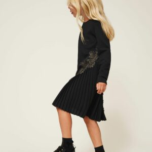 Twinset Kids Pleats and Lace Dress