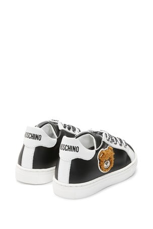 Moschino Kids Leather Trainers