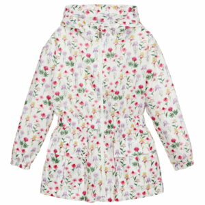 Monnalisa Kids Floral Raincoat. To brighten the rainy days that spring still brings us, this ultra-light coat, water-resistant, allows your daughter to enjoy every moment of play.