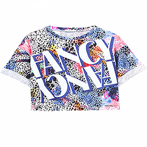Liujo Kids T-Shirt Colorful Print. Sportwear cotton t-shirt, very practical. Can be combined with several Liujo shorts. The colorful animal print, gives it a very irreverent look.