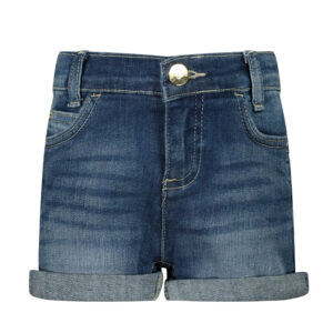 Liujo Kids Betty Shorts. Cotton shorts, with two front side pockets and two sheet pockets on the back. In one of the pockets a small metal application, with the Liujo logo, completes these shorts.