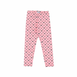 Chiara Ferragni Kids All-over logomania leggings. Fun pink leggings for girls, by Chiara Ferragni Kids. Made from soft cotton jersey, it has a black and blue Eyelike logo design with black stars. These versatile stretch cotton leggings with elastic waistband offer excellent fit.
