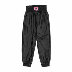 Chiara Ferragni Kids Eyelike Trousers.The most fashionable trousers feature shiny mirror-like nylon displaying eyelikes at the wais. Chiara Ferragni Kids Eyelike Trousers, one of our suggestions to include in your outfits choices that you can match with something of the other our brands!