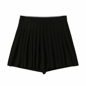 Twinset Kids Logo Skirt with Shorts. Skirt with shorts, very practical and comfortable. At the waist is a wide elastic with the Twinset logo. For girls who prefer shorts, perfect to go with warm sweaters and boots.