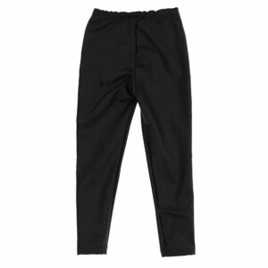 Chiara Ferragni Kids Logomania Leggings. These leggings rock, revisited in leather-like technical fabric. Black leggings for girls by Italian brand Chiara Ferragni Kids, made in soft cotton jersey. They have white and black tape down the sides, with the brand's signature 'Eyelike' logo.