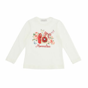"""Monnalisa Kids """"Photo"""" Top. Classic everyday T-shirt with a fun print for girls of all ages."""