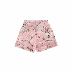 Monnalisa Kids Shorts Peach Blossom. Practical and fashionable, the cotton sweatshorts with a romantic print.
