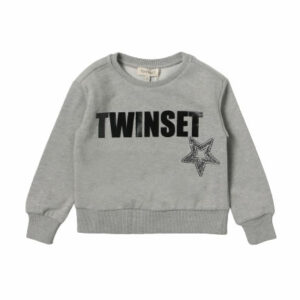 Twinset Kids Logo-Print Sweatshirt. Cotton sweatshirt with printed logo and a star. Regular fit, round neck, long sleeves and ribbed trim around the edges. Perfect for everyday looks and special occasion outfits.